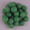Handmade Felt Accessories - 15mm Balls - Xmas Green